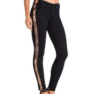 Paige Verdugo Skinny Jeans Black with Copper